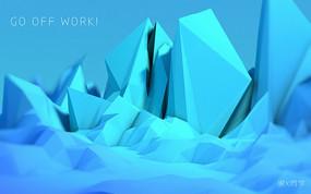 创意蓝色风格海报背景图