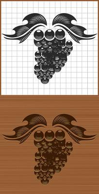 水果葡萄矢量图