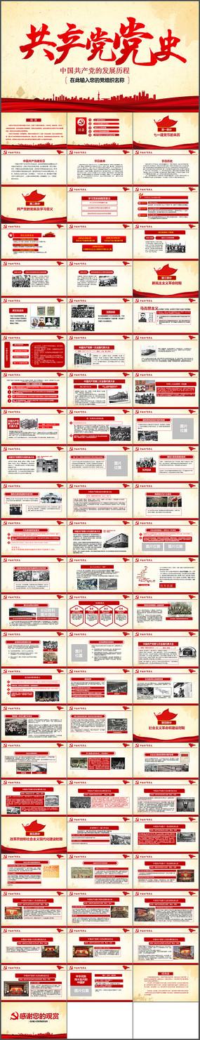 学习党的光辉历程党史PPT模板