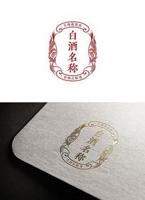 白酒标签设计