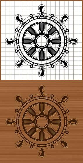 船舵矢量圖