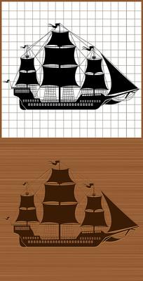 古代戰船戰艦矢量圖案