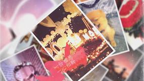 白色唯美梦幻文艺婚礼旅游图片展示AE模板 aep