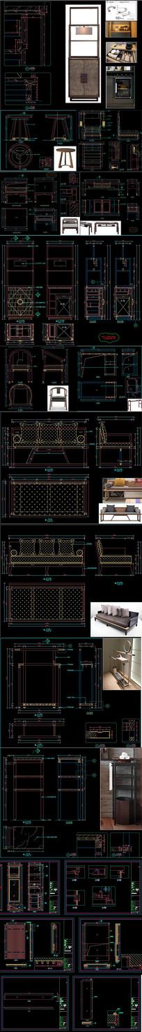 全套新中式家具CAD图库