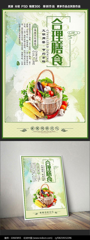 食堂文化展板之合理膳食