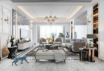 现代轻奢客厅组合沙发