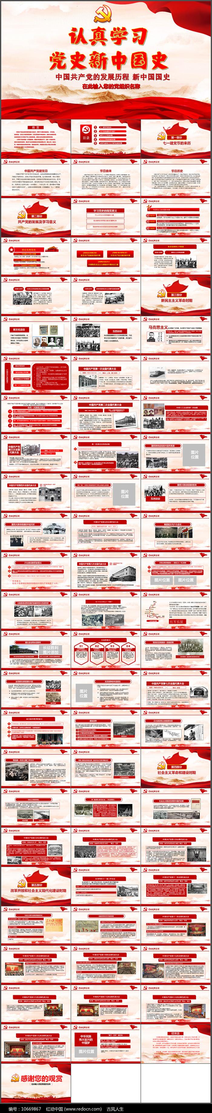 中国共产党的光辉历程ppt模板图片