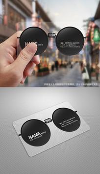 创意墨镜太阳眼镜店透明名片