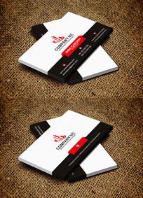 红色简约大气公司个人名片设计