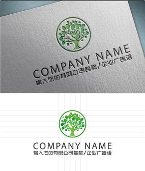 创意艺术树LOGO标志设计