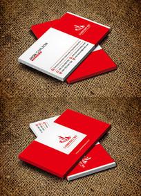 红色简约时尚科技IT行业名片设计