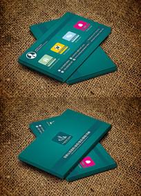 墨绿色IT行业创意个性化商务名片设计