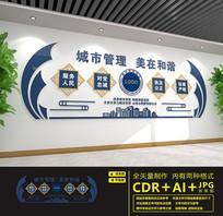 城市环境管理文化墙