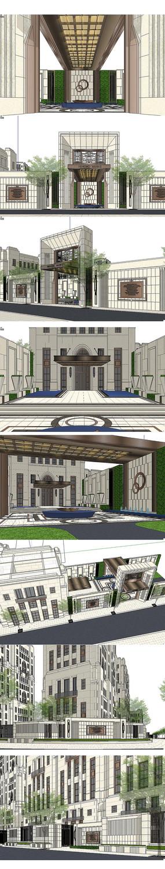 地产售楼中心建筑景观