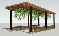 公园爬藤长廊模型