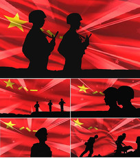 毛主席的战士最听党的话八一晚会背景视频素材