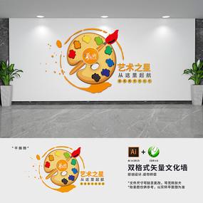 美术培训机构文化墙