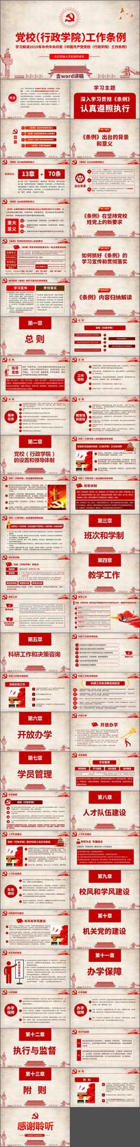 中国共产党党校行政学院工作条例学习解读