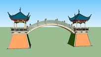 桥3d模型su素材