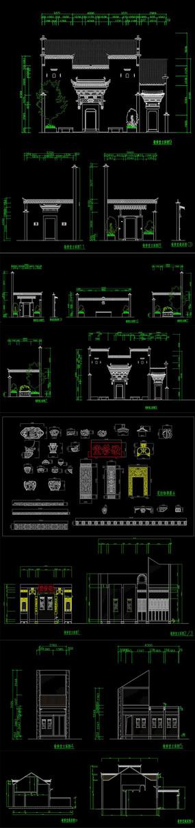 全套古建CAD施工图