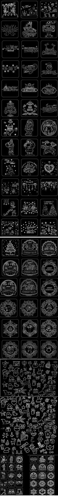 圣诞老人 圣诞节CAD图库