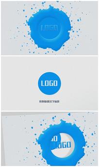 水墨卡通logo片头视频模板