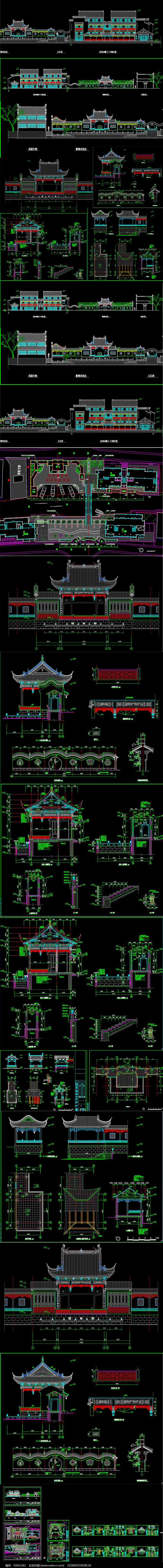 中式古代戏楼CAD施工图图片