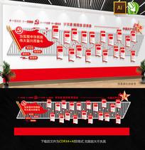 党的光辉历程党建文化墙背景墙
