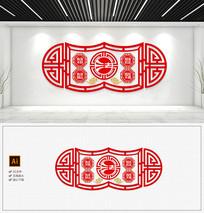 古典法治文化墙法治党建走廊文化墙