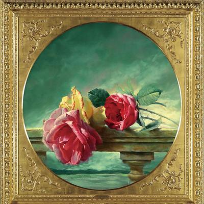 古典高清花卉静物油画