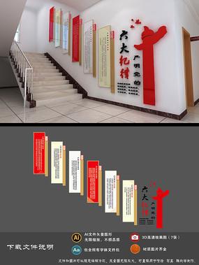 党的六大纪律楼梯间文化墙