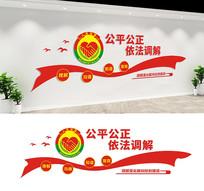 社区调解室宣传标语文化墙设计