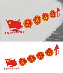 基层社区楼梯党建文化墙设计