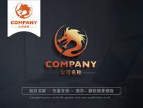 创意中国龙logo标志设计