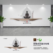 新中式瑜伽教室文化墙