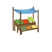 原创手绘卡通蔬菜