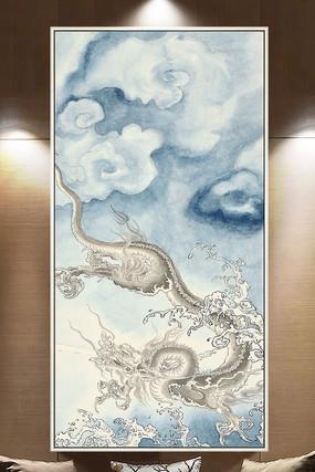 古典中式中国龙水墨装饰画