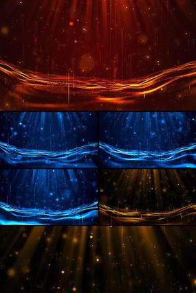 三款大气颁奖粒子LED背景视频素材