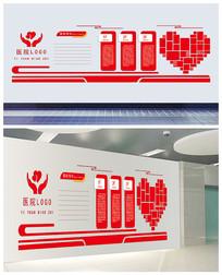 医院宣传文化墙AI模板