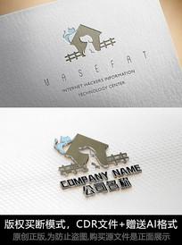 宠物logo标志可爱猫狗商标