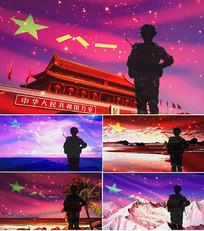 歌曲我是军人舞台背景视频