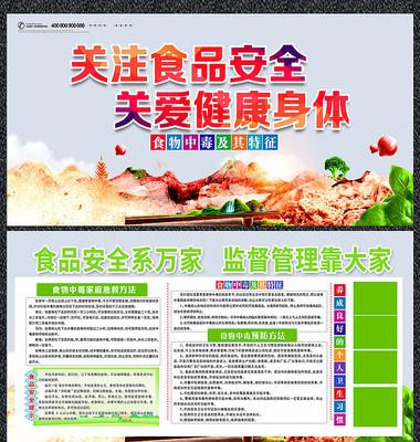 简约食品安全宣传展板