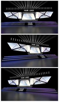 原创三角舞台效果图模型