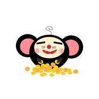 2020鼠年卡通装饰老鼠恭贺元素