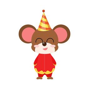 2020鼠年手绘装饰可爱老鼠元素