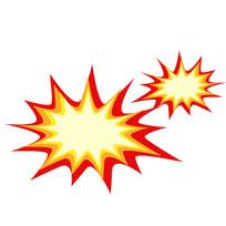 爆炸效果卡通装饰元素