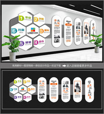 灰色空间企业文化墙