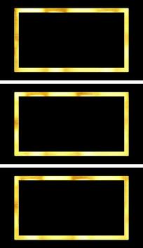 金属质感拜年视频边框通道元素视频素材