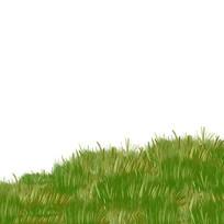 卡通手绘草地草坪草皮元素