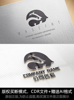 可爱动物logo标志商标设计
